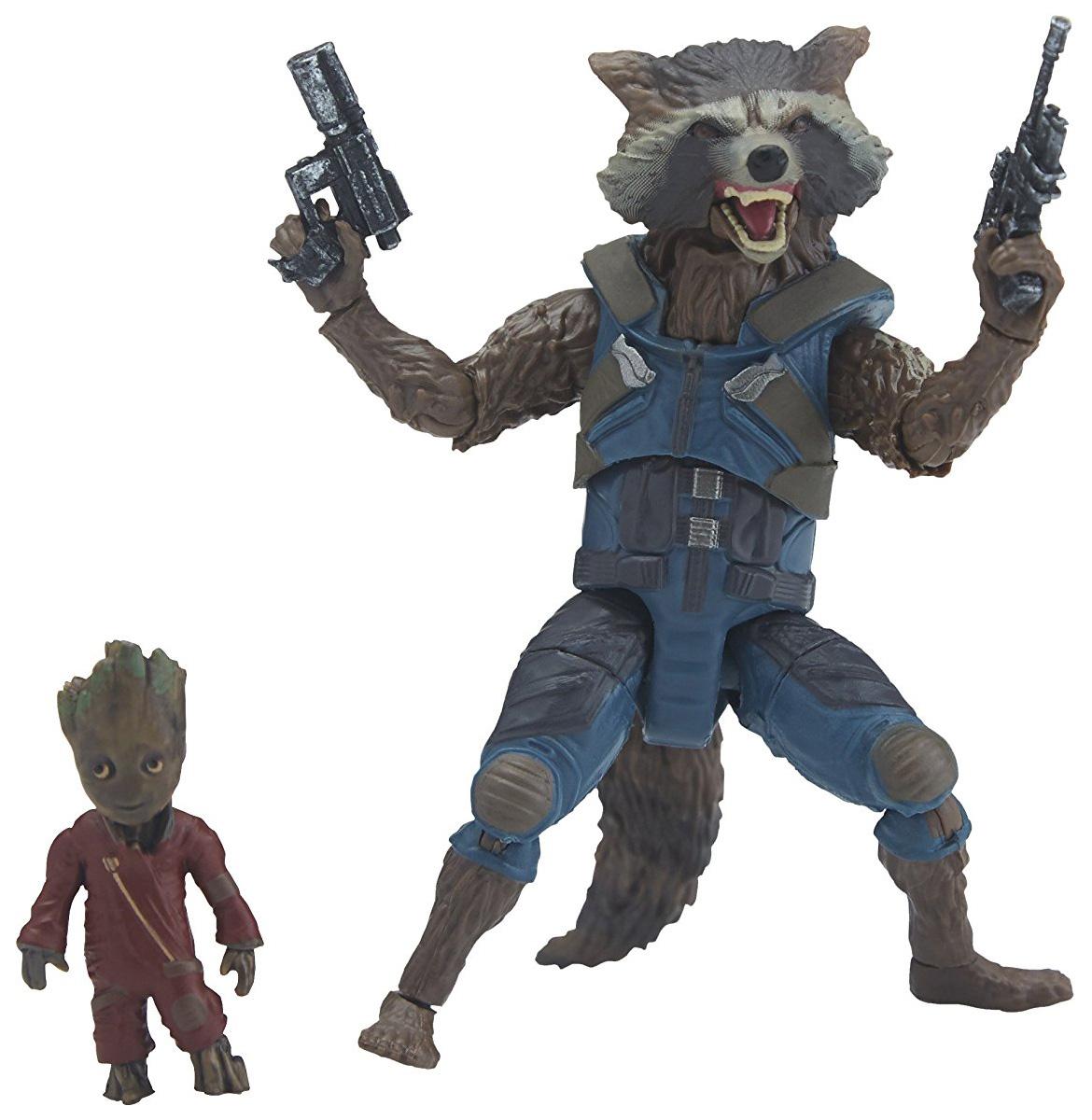 Купить Фигурка Hasbro Avengers E0857/E1369 Марвел Рокет и Грут 15 см, Фигурки MARVEL