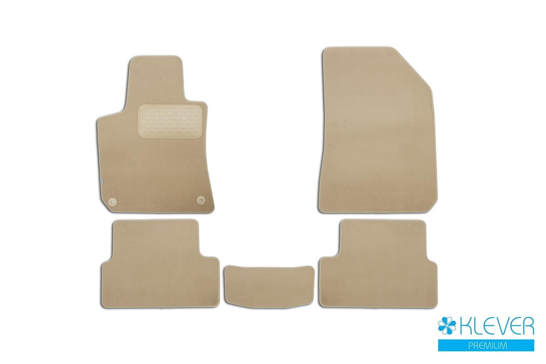 Коврики в салон Klever Premium для PEUGEOT 308 2014, 5 шт. текстиль, бежевые