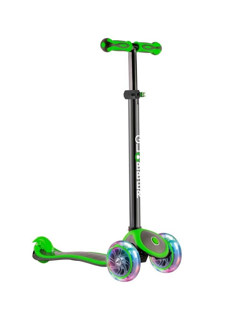 Самокат GLOBBER MY FREE UP TITANIUM LIGHTS Зеленый со светящимися колесами (442-136)