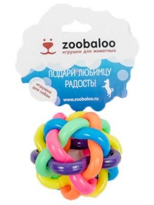 Игрушка для собак Zoobaloo Мяч витой резиновый средний,