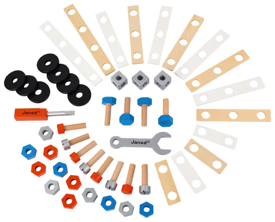 Купить Деревянная игрушка Janod Конструктор Brico'kids 50 элементов, Развивающие игрушки
