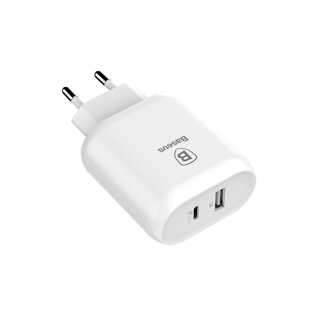 Сетевое зарядное устройство Baseus Bojure Series Type-C to Lightning PD cable set EU White