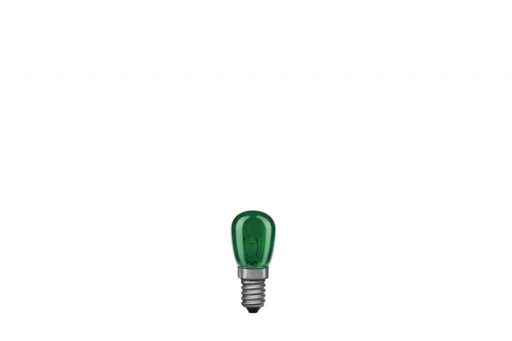 Лампа накаливания 230V 15W Е14 Груша (D-25mm, H-60mm) зеленый 80013