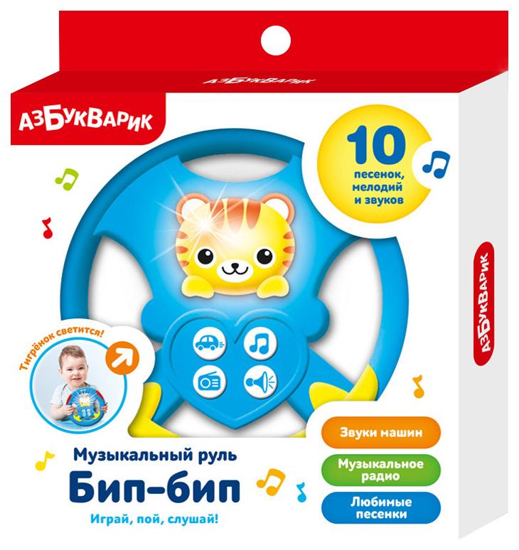 Развивающая игрушка Азбукварик Музыкальный руль Бип-Бип красная,  - купить со скидкой