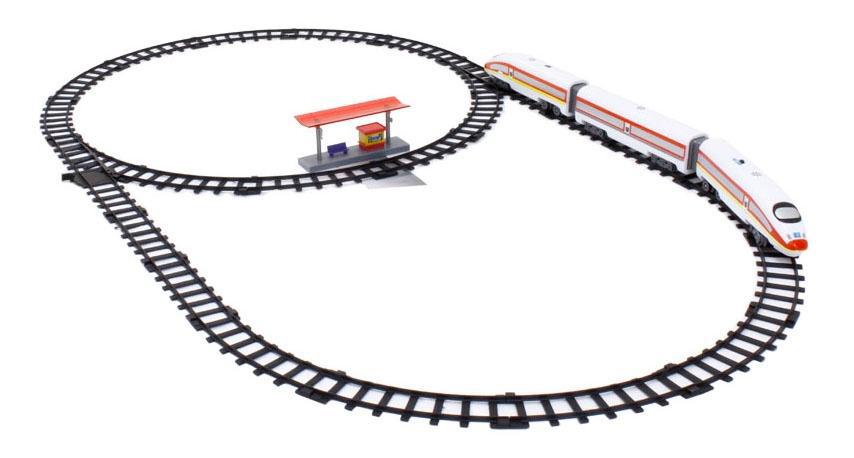 Железная дорога 1Toy Ястреб 420 см 11 дет.со светом и звуком 3 вагона