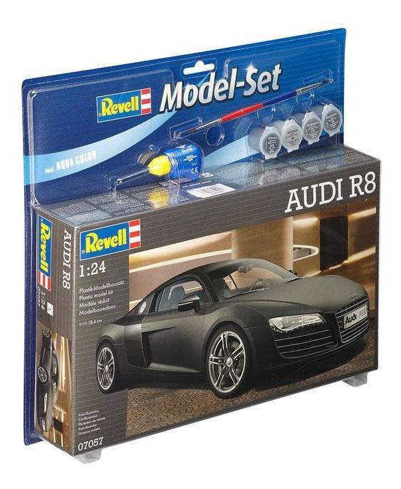 Купить Сборная модель автомобиль audi r8, набор с красками и клеем 1:24, Revell, Модели для сборки