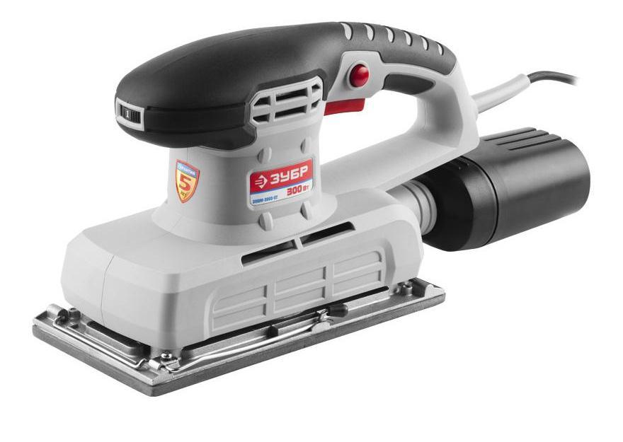 Сетевая вибрационная шлифовальная машина Зубр ЗПШМ-300Э-02