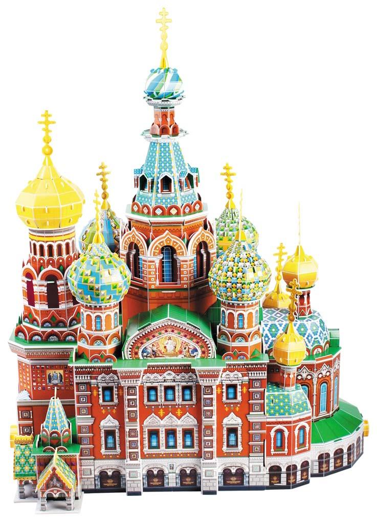 Модель для сборки cubic fun собор воскресения христова (россия), mc148h