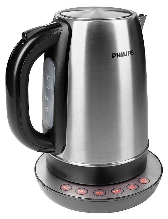 Чайник электрический Philips HD9326/20 Black/Silver