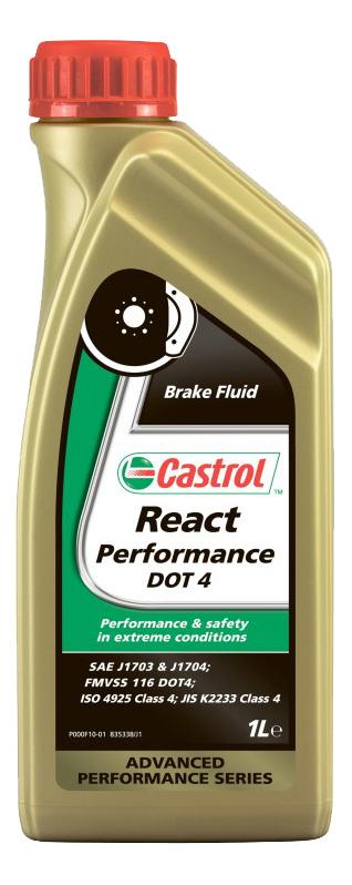 Тормозная жидкость Castrol React Performance DOT 4 1л 157F8B