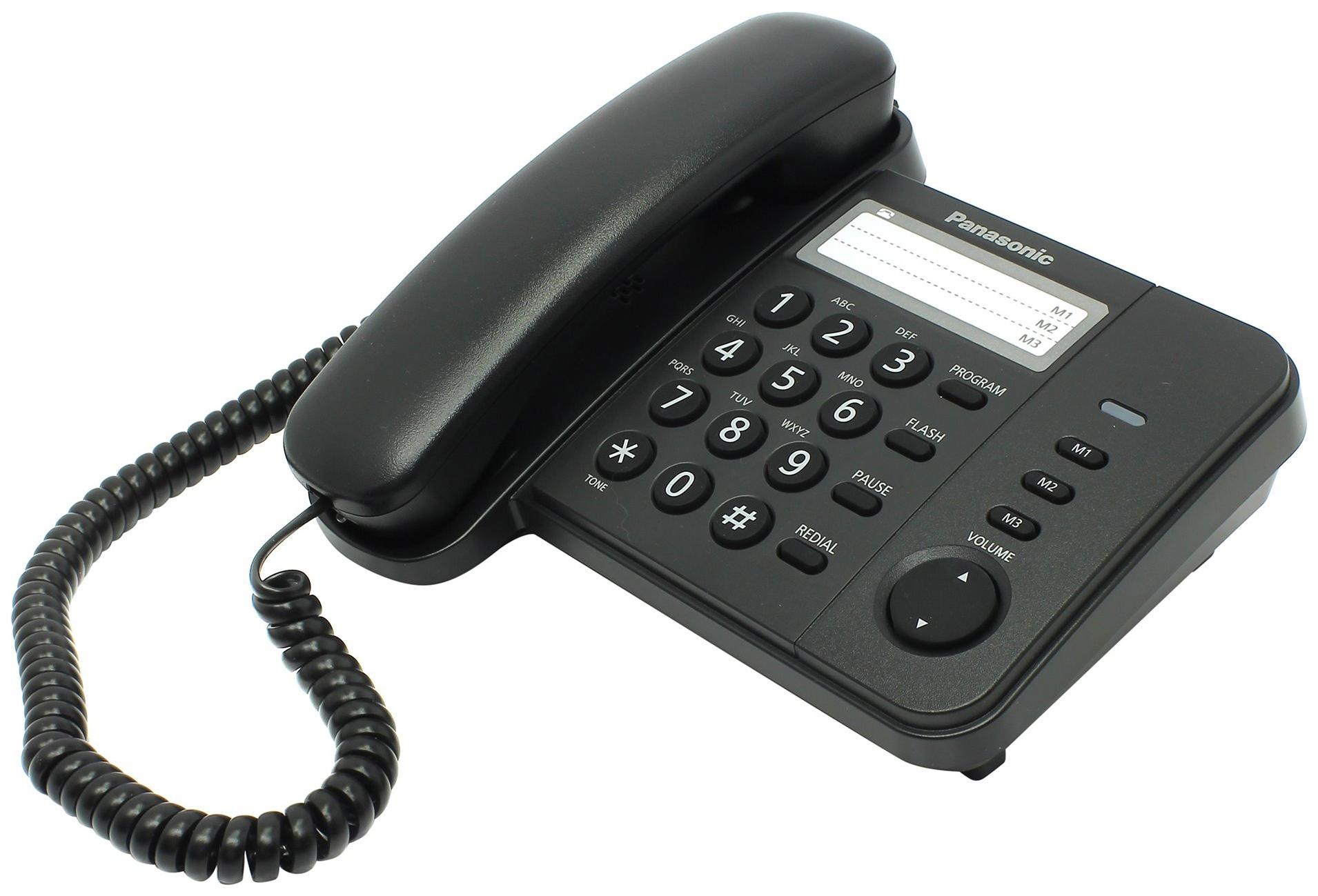Проводной телефон Panasonic KX TS2352RUB черный