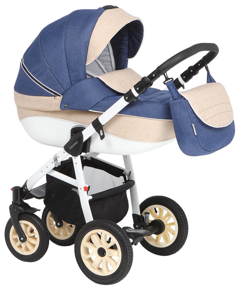 Купить Коляска 2 в 1 Adamex Neonex (синий, молочный, бежевый), Детские коляски 2 в 1