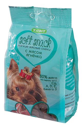 Лакомство для собак TiTBiT Soft Snack, снек мягкий с мясом ягненка, 100г фото