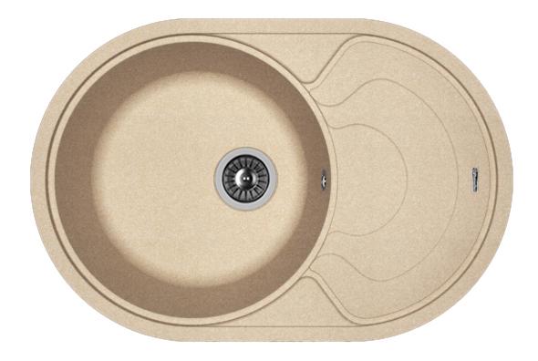 Мойка для кухни гранитная Florentina Родос 760 песочный