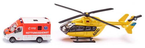 Купить Игровой набор SIKU Скорая помощь и вертолет, 1850, Игровые наборы