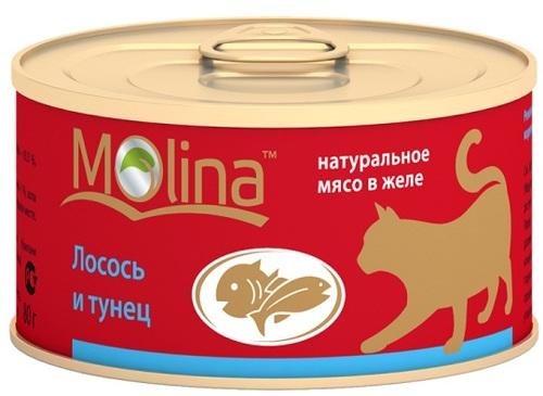 Консервы для кошек Molina, тунец, 80г