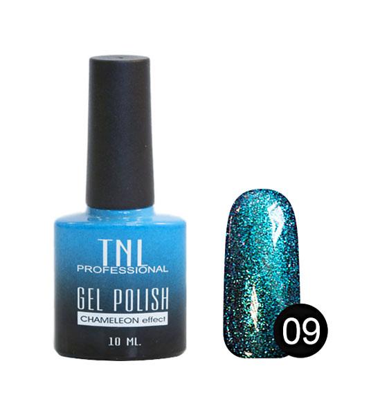 Гель-лак для ногтей TNL Professional Gel Polish Chameleon Effect Collection 09 Бирюзовый