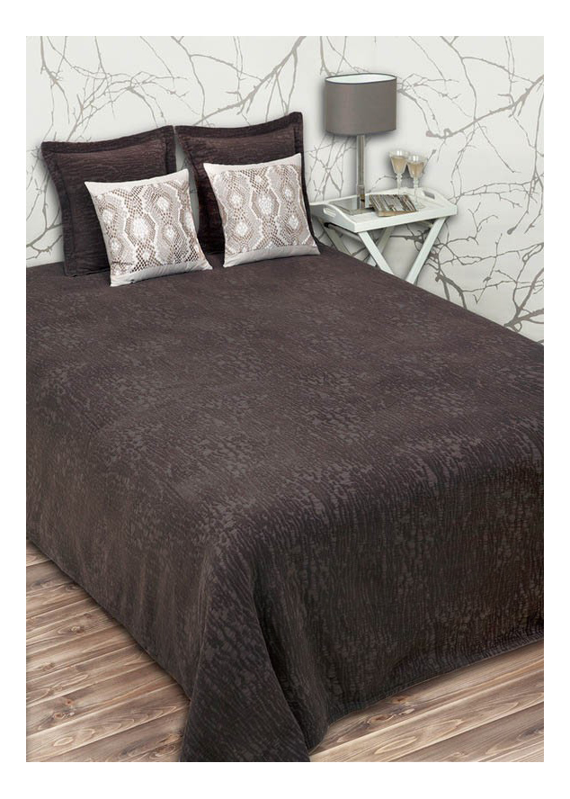 Покрывало Luxberry Velvet 220 х 240 см темный шоколад