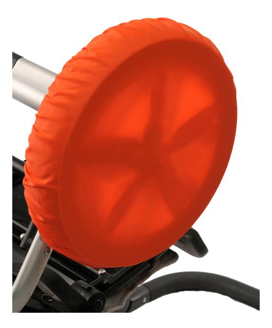 Чехол на колеса детской коляски Чудо-Чадо 4 шт. 18-28 см оранжевый