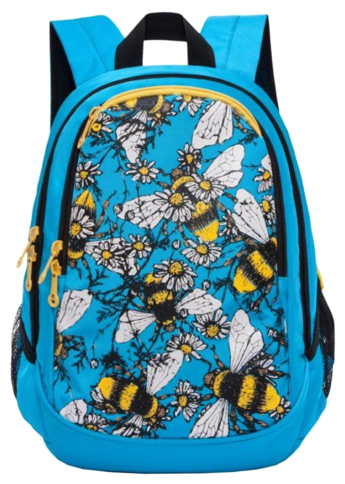 Купить Рюкзак школьный Grizzly RD-843-2 1 голубой, Школьные рюкзаки и ранцы