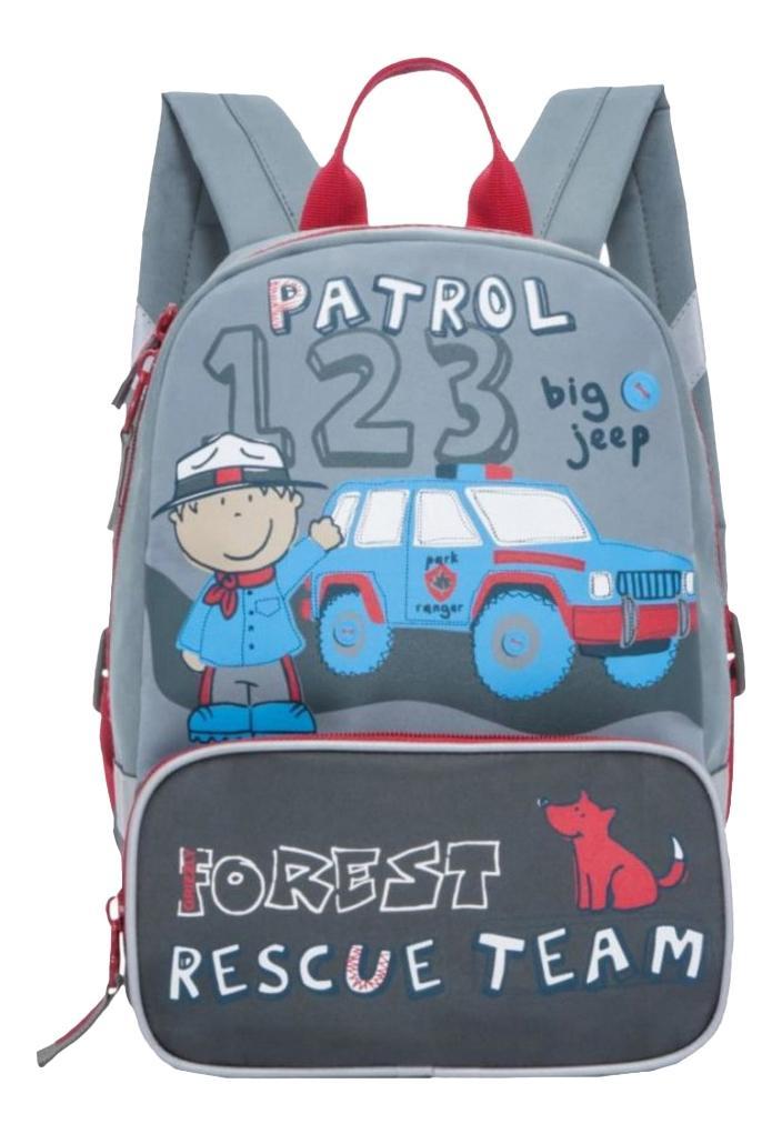 Рюкзак детский Grizzly RS-890-4 детский серый Ранец RS-890-4/1 серый