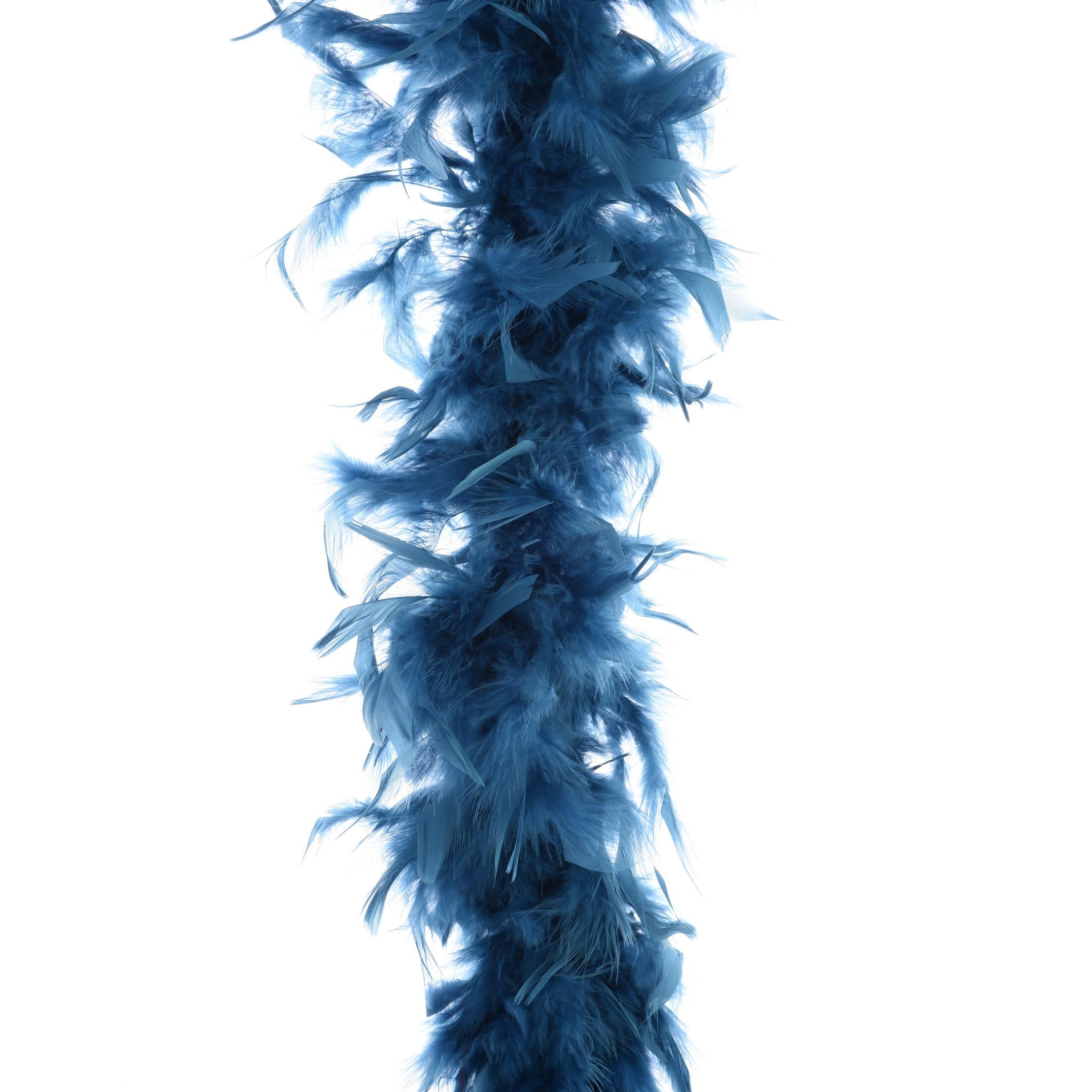 Kaemingk Гирлянда Боа из перьев 184 см лазурный