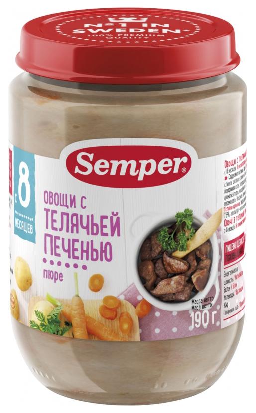 Пюре мясное Semper Овощи с телячьей печенью