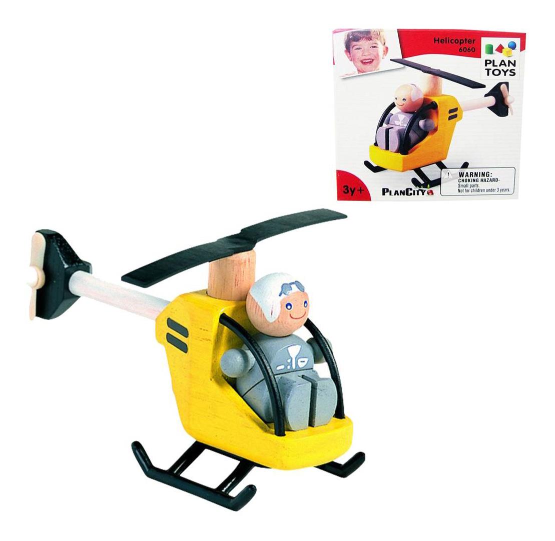 Купить Деревянная игрушка для малышей PlanToys Вертолетик, Развивающие игрушки