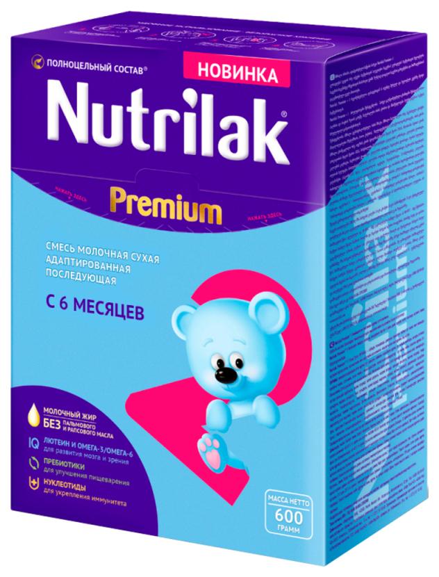 Купить Premium 2, Молочная смесь 2 (от 6 до 12 мес.) Nutrilak Premium 600 г, Детские смеси