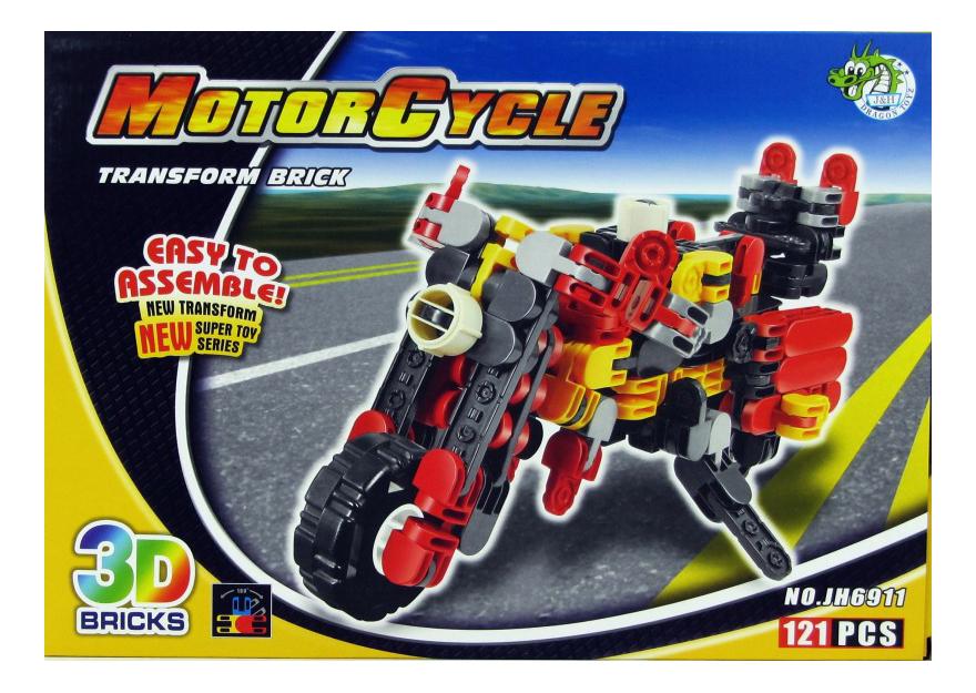 Конструктор Мотоцикл Dragon Toys Страйп 121 дет.