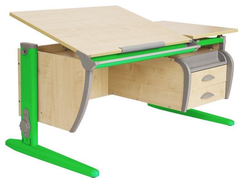 Парта Дэми СУТ 17-04Д2 с двумя задними двухъярусными приставками Зеленый 120 см