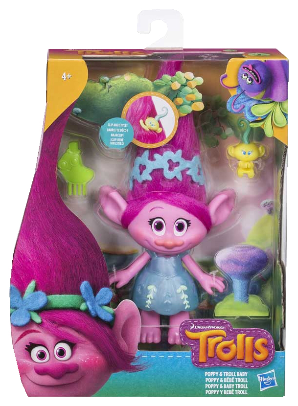 Купить Игровой набор Hasbro Фигурка тролля и малыш, Trolls, Игровые фигурки