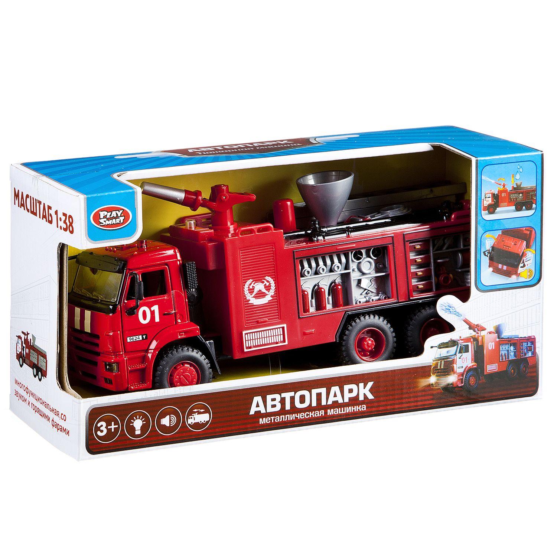 Купить Автопарк пожарная машина 1:38 Play Smart 9624 инерционный, PLAYSMART, Строительная техника