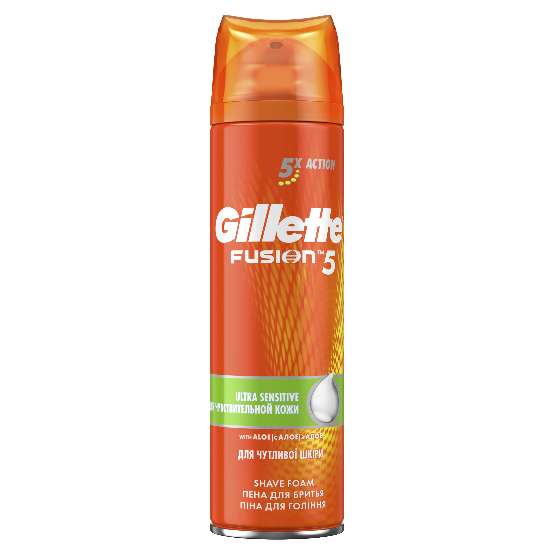 Пена для бритья Gillette Fusion5 Ultra Sensitive