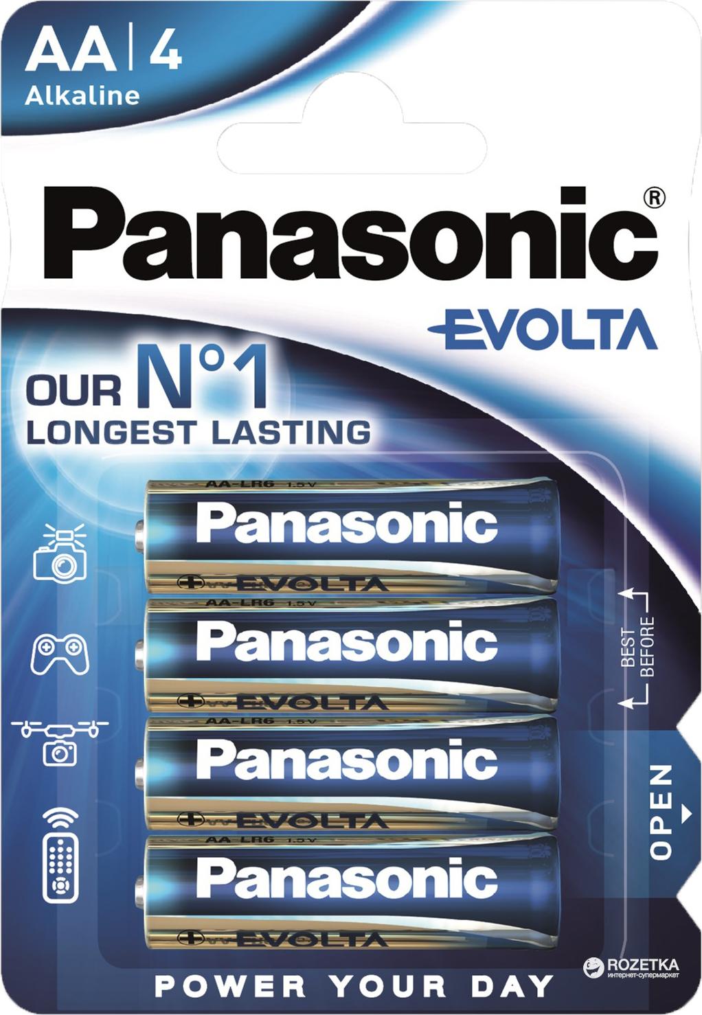 Батарейка Panasonic Evolta LR6EGE/4BP 4 шт
