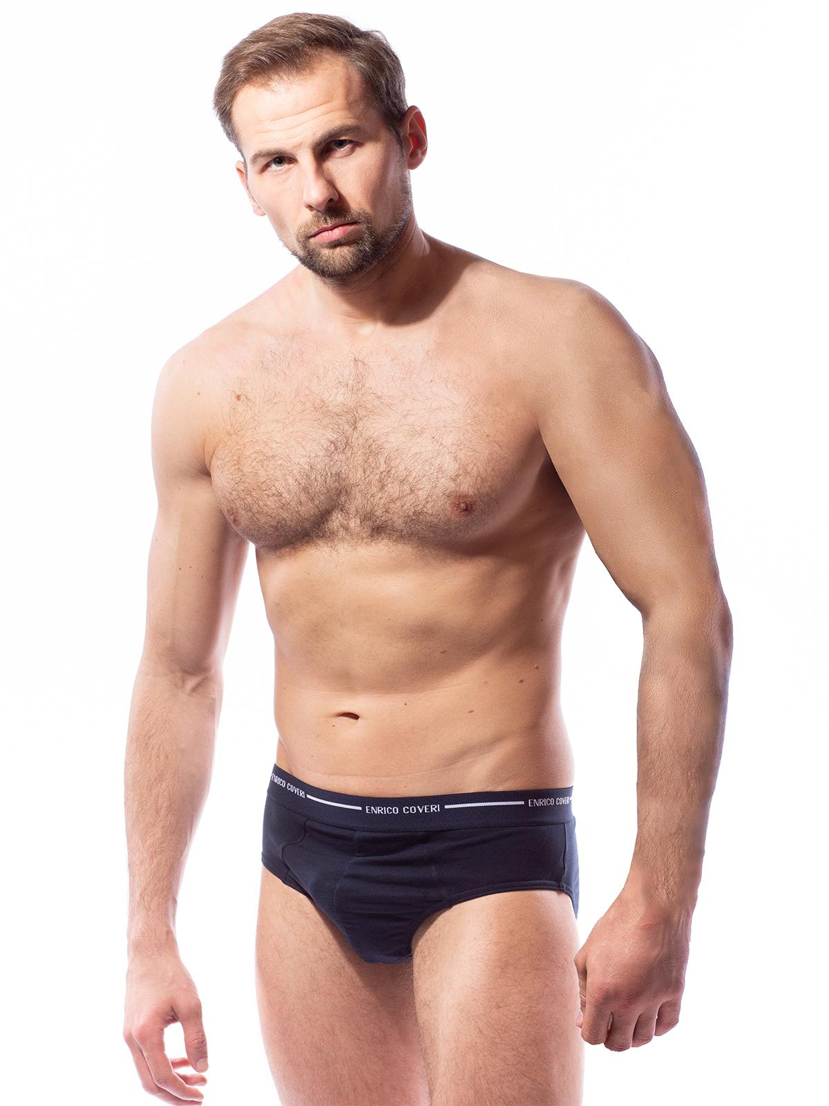 Трусы слип мужские Enrico Coveri синие XL
