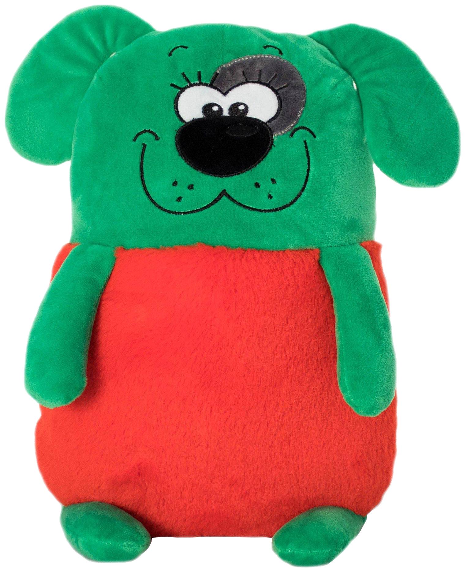 Купить Мягкая игрушка Мягкие зверята - Зеленая собака, 50 см KiddieArt, Kiddie Art, Мягкие игрушки животные