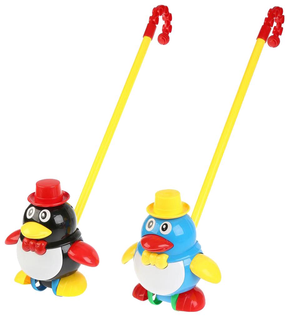 Купить Каталка с ручкой Пингвин 2 вида, 17*16*13см, PAC, арт.0339, Shenzhen Toys, Развивающие игрушки