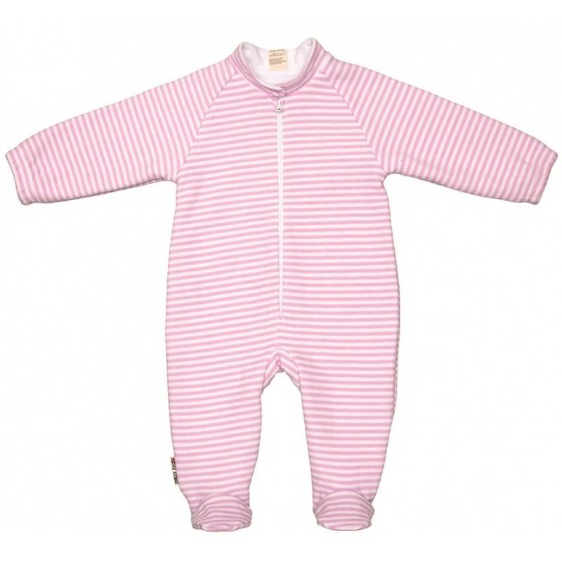 Купить 4-14.1/БЕЛО-РОЗОВЫЙ, Комбинезон Lucky Child, цв. розовый, 86 р-р, Трикотажные комбинезоны для новорожденных