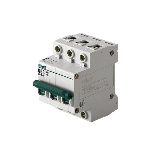Автоматический выключатель 3Р 63А Schneider Electric DEKraft, арт. 11084DEK фото