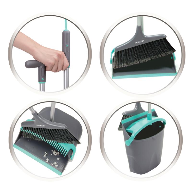 Набор для сухой уборки Hausmann Ergo Broomer: щетка и совок