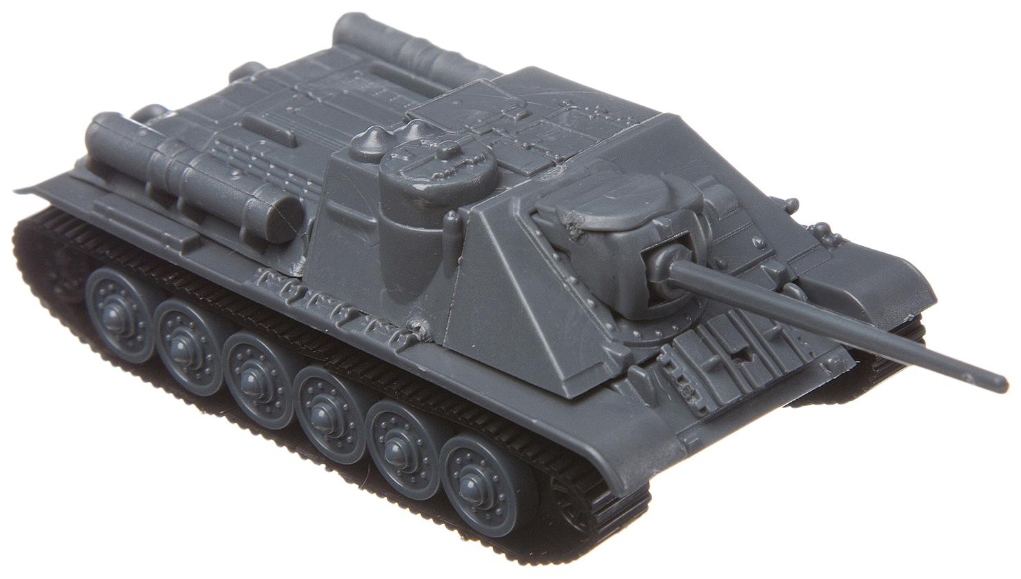 Купить Сборная 4D модель танка, Bondibon, М1:100, 28 дет., BOX 15, 8x4, 5x13 см., Конструкторы пластмассовые
