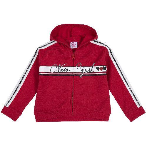 9096996, Толстовка Chicco для девочек р.104 цв.красный, Толстовки для девочек  - купить со скидкой