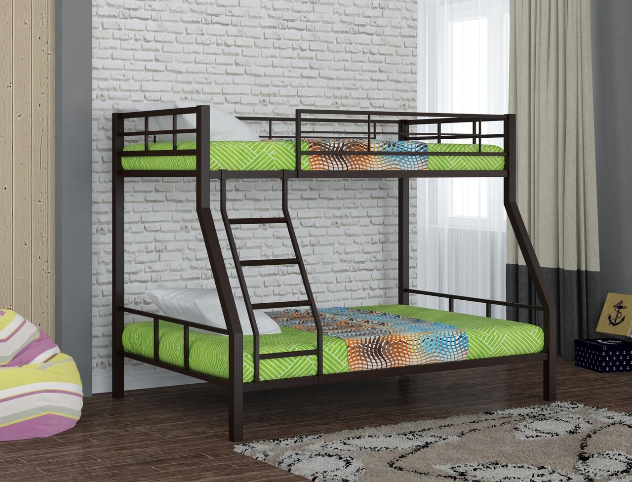 Металлическая двухъярусная кровать Redford Гранада 1 Коричневый