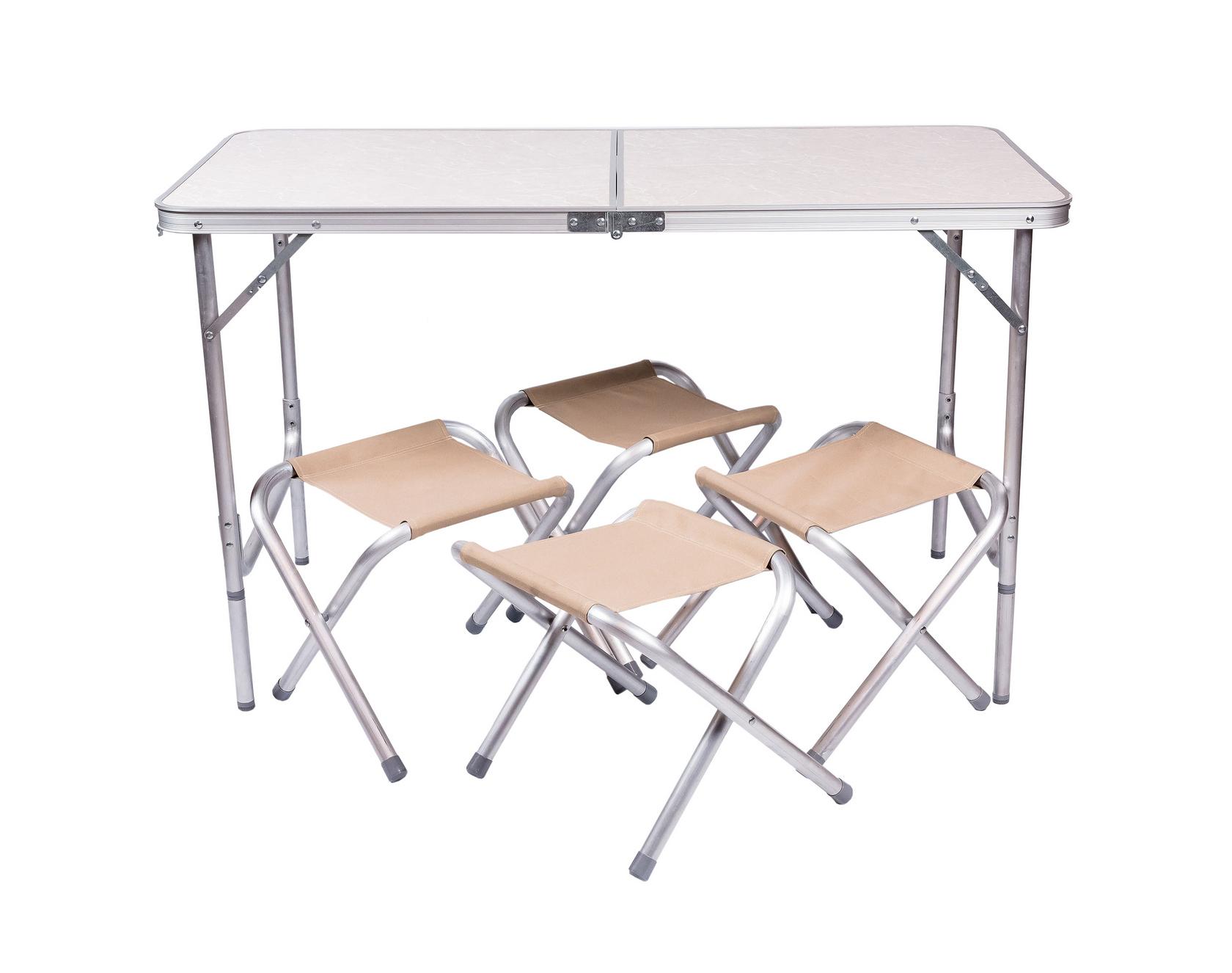 Набор мебели для пикника Green Glade 702 (2) Миндальный мрамор / Бежевый