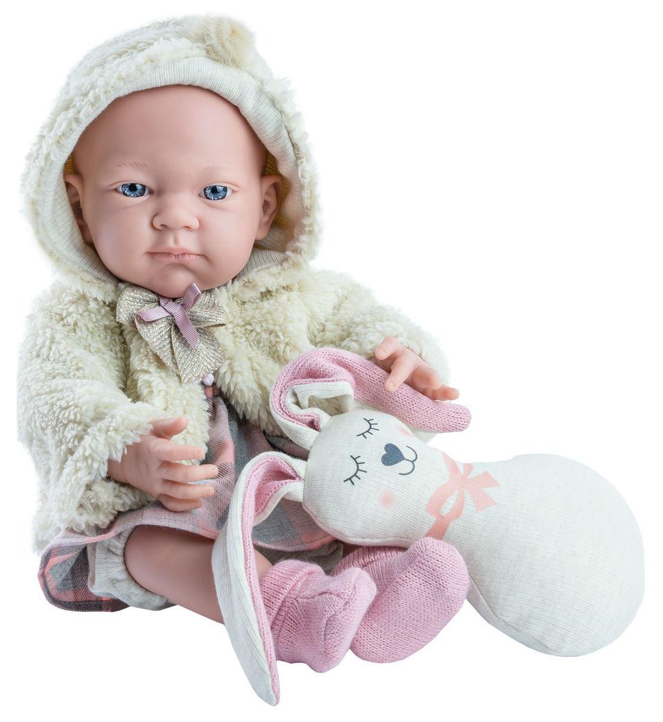 Купить Кукла Бэби, с подушкой-заяц, 36 см, Paola Reina, Классические куклы