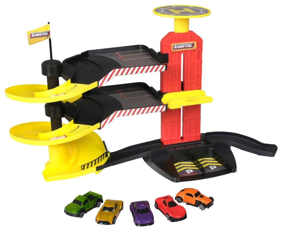 Купить Многоуровневая парковка-трек Halsall Toys Internationals с 5-ю машинками, Детские парковки