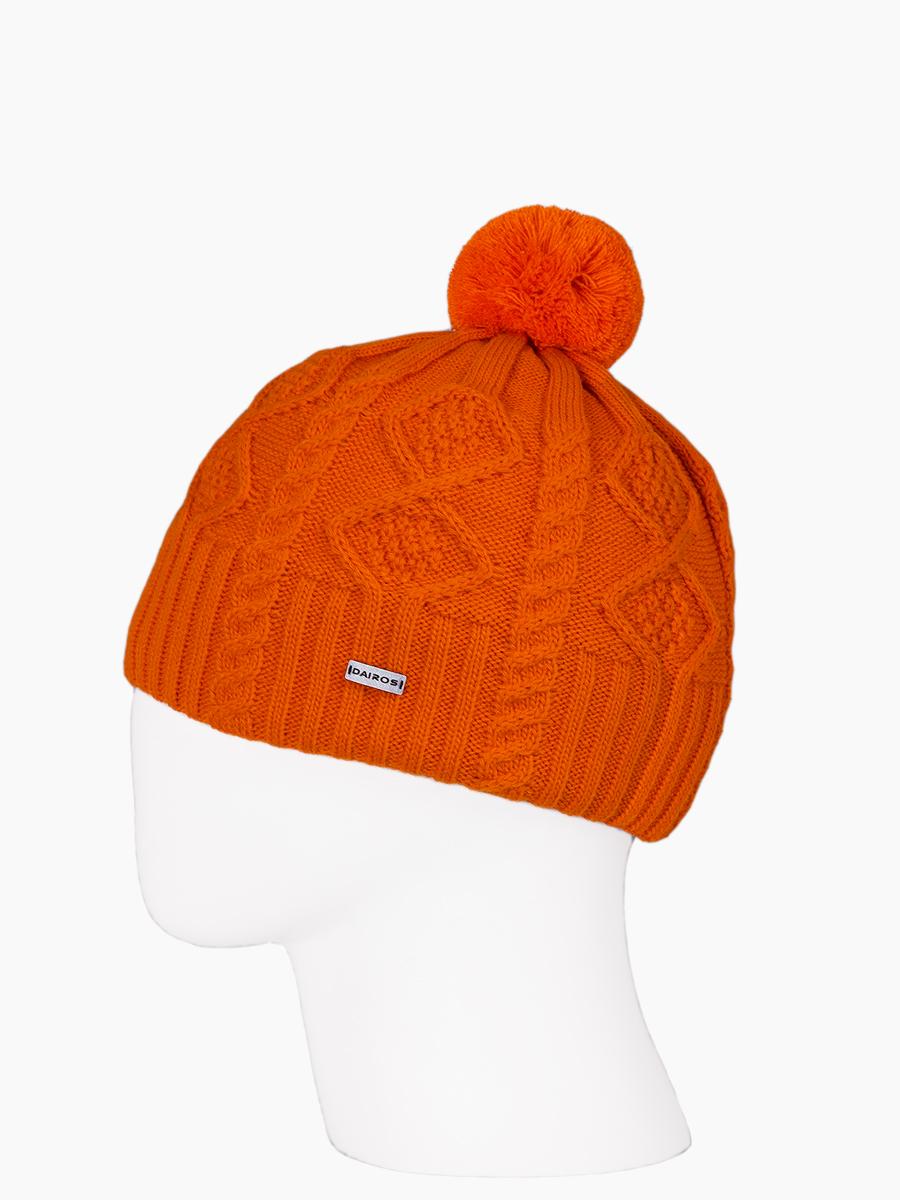 Шапка мужская Dairos GD78690778 оранжевая