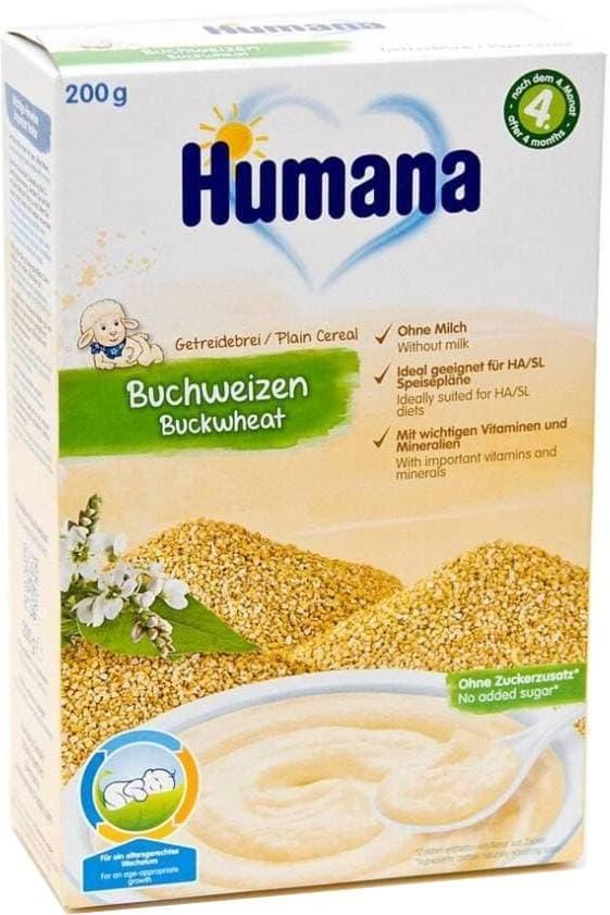 Купить Каша Humana безмолочная Гречка с 4 мес 200 гр 77564, Детские каши