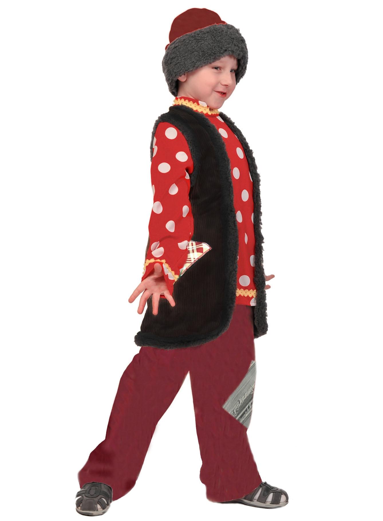 Карнавальный костюм Карнавалофф Емеля, цв. красный р.122